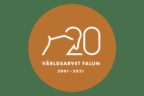 Symbol för Världsarvet Falun 20 år